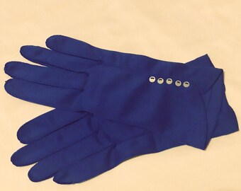 Vintage Blue Gloves