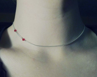 Vampire Kiss Silver Plated Necklace