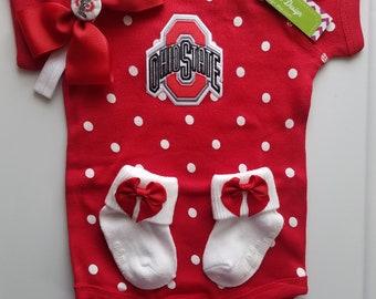 ohio state baby outfit-Ohio state newborn-buckeye baby-ohio state baby girl shower gift-ohio state baby/newborn ohio state take home/osu