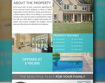 Real Estate Flyer PSD Template, Real Estate Marketing, Instant Download