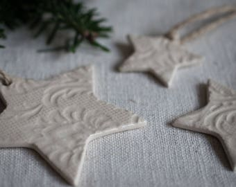 Large Clay Christmas Star Ornaments