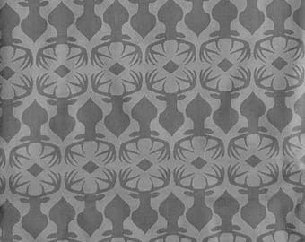 Grey Stag Embossed Rustique , Michael Miller, 100% Cotton Quilting Fabric Apparel, Fabric by the Yard