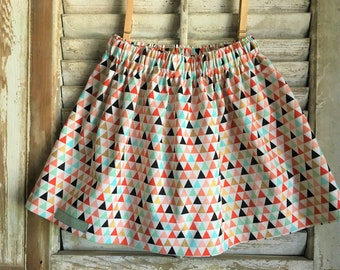 Multicolor triangle skirt, infant/toddler/girl skirt, handmade clothing