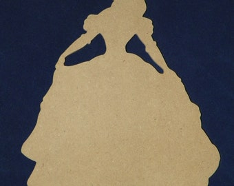 """24"""" Belle of """"The Beauty and the Beast"""" Wood Cutout"""
