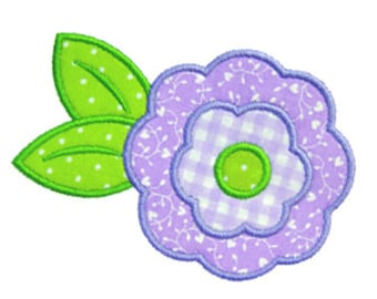 Flower Applique, Flower Embroidery Design, Machine Embroidery Design, Instant Download