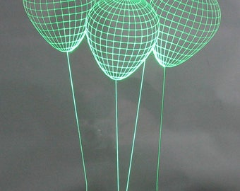 Optical Illusion 3-D Balloon Multicolored Light