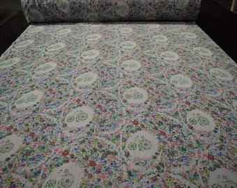 "Multi-color Flowers Floral Print Georgette Gauze Fabric Craft Apparel 45""W #8"