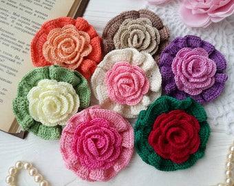 Crochet flowers (7pcs)
