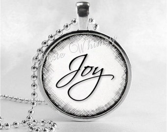 Joy pendant etsy joy inspirational word pendant joy necklace inspirational jewelry joy pendant motivational words aloadofball Gallery