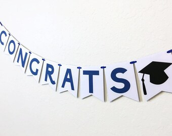 Personalized Congrats Banner. College Graduation. High School Graduation. Class of 2017. Personalized Graduation Banner