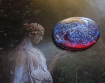 25x18mm Mexican Opal Or Dragon's Breath Fiery Opal Glass Cab 1Pc.