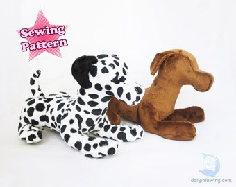 Sewing Pattern PDF Laying Dog Plushie