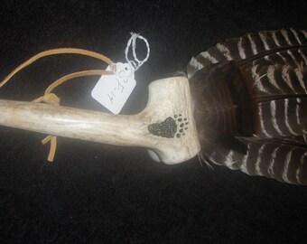 turkey feather bear  antler s f 14