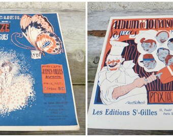Vintage Antique 1920s French recueil de 12 monologues /book/issue