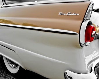 Ford Fairlane Car Photography, Automotive, Auto Dealer, Classic, Muscle, Sports Car, Mechanic, Boys Room, Garage, Dealership Art