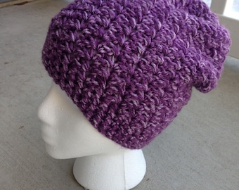 Dusty Purple Slouch Hat