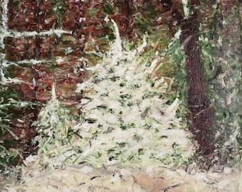 New Snow - 20 x 20 - original oil on canvas