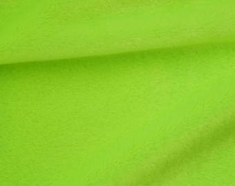 "Green Faux Fur Fabric 19"", Green Lime Plush, Smooth Fur Fabric Craft"