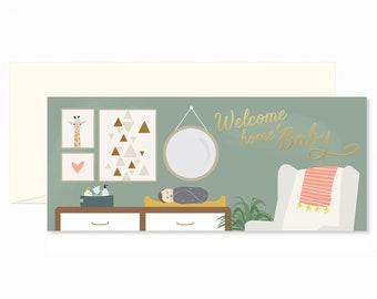 Welcome Home Nursery Greeting Card #10