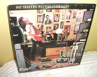 Pat Travers Putting it Straight Vinyl Record Album NEAR MINT condition