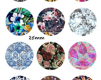 CT350 Roses and leaves 12 Images/designs/collage/Scrapbooking digital 30/25/20/18/16/15/14/12/10/8 mm cabochon round/square/oval