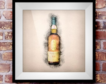 Lagavulin 16 - Crosshatch Whisky Wall Art