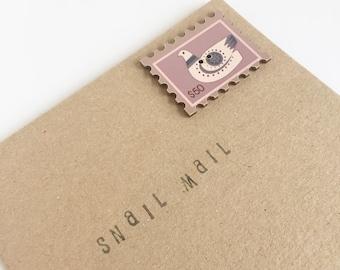 Stamp Button Card - Celebration - Snail Mail - Friend