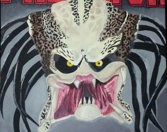 Predator acrylic hand painting