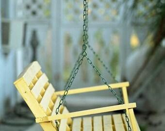 A Yellow Porch Swing Fine Art Photo