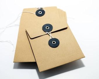 Set of 10 Japanese 10x12cm Kraft envelopes