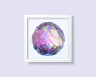 Luxurious Framed Metal Artwork - Magical Crystal