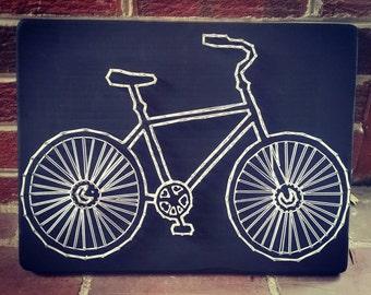 Bicycle String Art, Bike lover gift idea, triathlon string art