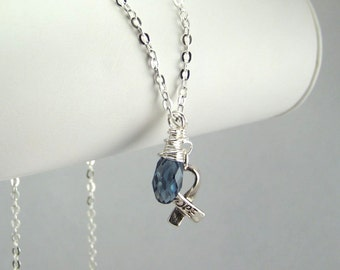 Blue Awareness Necklace