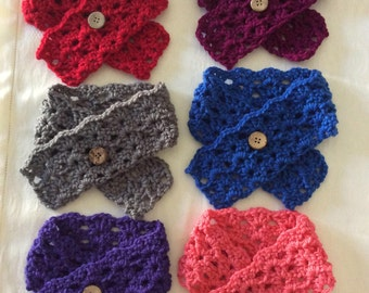 """FREE SHIPPING Baby Scarf, Crochet Baby Scarf, Choose from 12 colors, 3"""" x 19"""""""