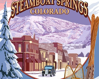 Steamboat Springs, Colorado Montage (Art Prints available in multiple sizes)