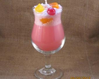 Pink Sangria Drink Candle