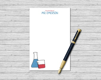 Personalized Notepad for Science Teachers - Teacher Gifts - Custom Notepads for Teachers | Beakers