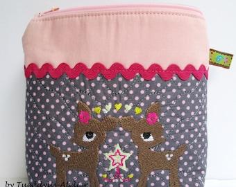 Deer, bag, girl, birthday, birth, gift, back to school,