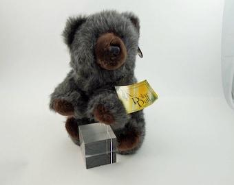 Vintage 80s Teddy Bear Plush 24K Polar Puff, Stuffed Teddy Bear, Stuffed Bear, Bear Lovers Gift, Soft Bear, Cute Bear, Fuzzy Bear