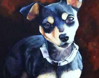 Custom Pet Portraits, Dog Portraits, Pet Painitings, Dog Art