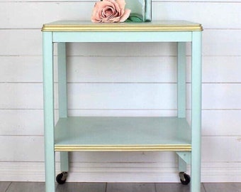 Painted Vintage Retro Trolley, Drinks Trolley, Tea Trolley, Side Table, Lamp Table, Upcycled Trolley, Bedside Table, Painted Furniture