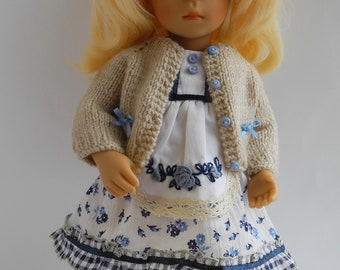 """Minouche, Little Darling, Dianna Effner,   Cotton dress with lace Outfit, embroidered,  for Minouche,  Little Darling Dianna Effner 13"""""""