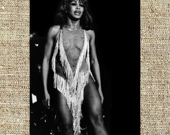Tina Turner photograph, black and white photo print, vintage photograph, The Queen of Rock 'n' Roll, gift for him or her