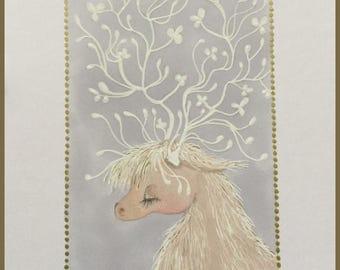 Original art winter beast lowbrow fantasy art