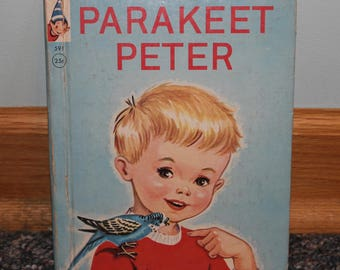 Book Parakeet Peter Rand McNally Elf Book PARAKEET PETER Kids Children's Storybook