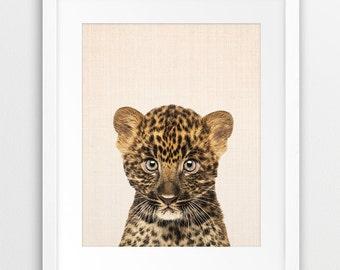 Leopard Print, Nursery Animal Wall Art, Cute Animal Photo, Baby leopard Print, Nursery Decor, Baby Animal, Kids Room Art,  Printable Art
