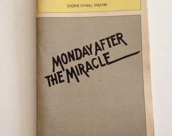 Playbill 1982 Eugene O'Neill Theatre Monday After The Miracle Vintage Theater Program NYC