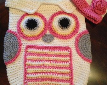 Owl baby bunting & hat set/pillow pal