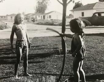Let Summer Begin Vintage Photo Water Fight