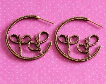 Clearance 6pcs Antique Bronze Bud Earring Hooks EA11038Y-AB